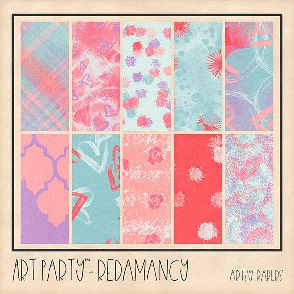 Redamancy Artsy Papers Digital Art - Digital Scrapbooking Kits