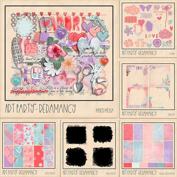 Redamancy Complete Collection Digital Art - Digital Scrapbooking Kits