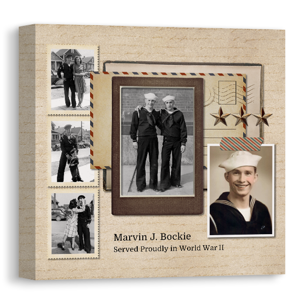 Vintage Memories Traveler 1 Canvas