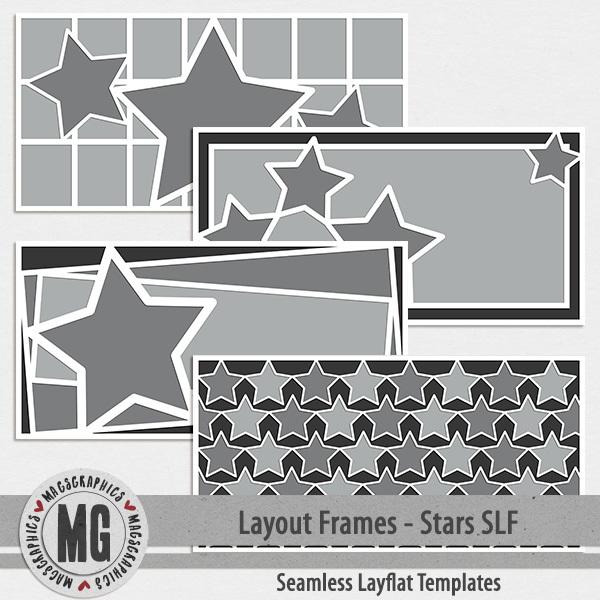 Layout Frames - Stars SLF Digital Art - Digital Scrapbooking Kits