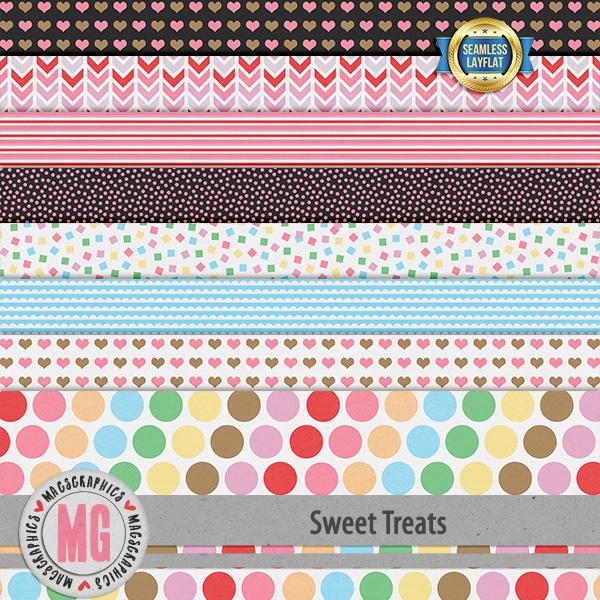 Sweet Treats SLF Papers Digital Art - Digital Scrapbooking Kits