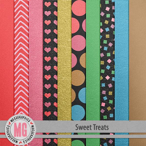 Sweet Treats Foil Papers Digital Art - Digital Scrapbooking Kits