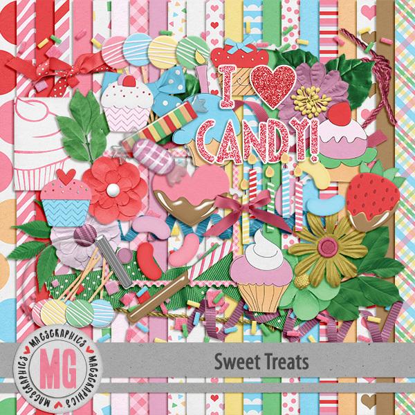 Sweet Treats Kit Digital Art - Digital Scrapbooking Kits