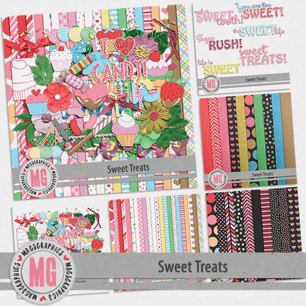 Sweet Treats Bundle Digital Art - Digital Scrapbooking Kits