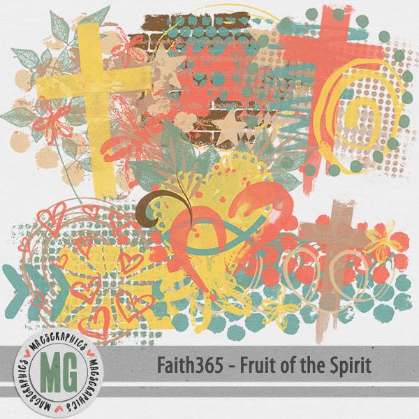 Faith365 Fruit of the Spirit Hodge Podge Digital Art - Digital Scrapbooking Kits