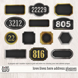 Love Lives Here Address Plaques
