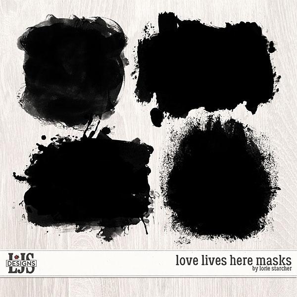 Love Lives Here Masks