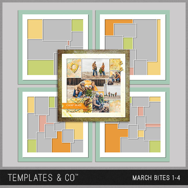 March Bites 1-4 Digital Art - Digital Scrapbooking Kits