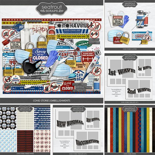 Covid Stories Bundle Digital Art - Digital Scrapbooking Kits