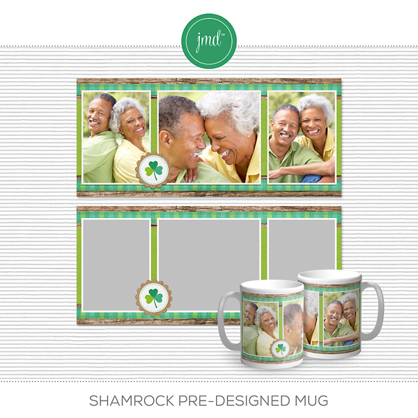 Shamrock Pre-Designed Mug Digital Art - Digital Scrapbooking Kits
