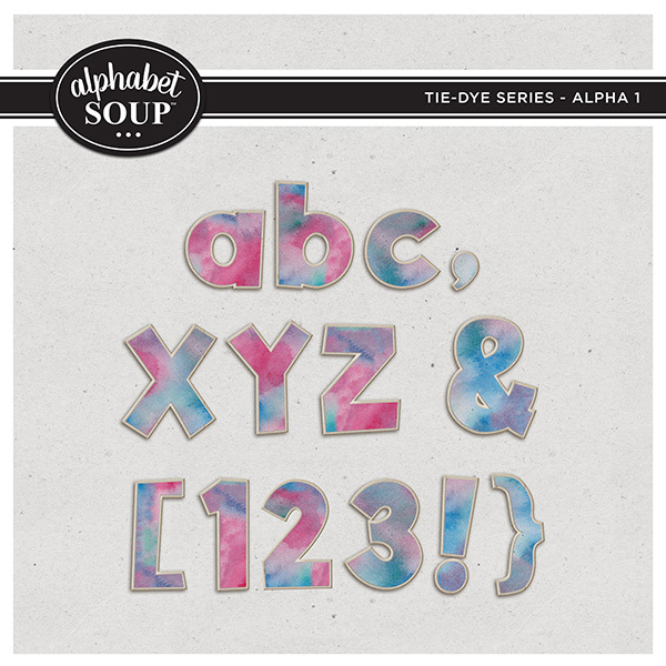 Tie-Dye Series - Alpha 1 Digital Art - Digital Scrapbooking Kits