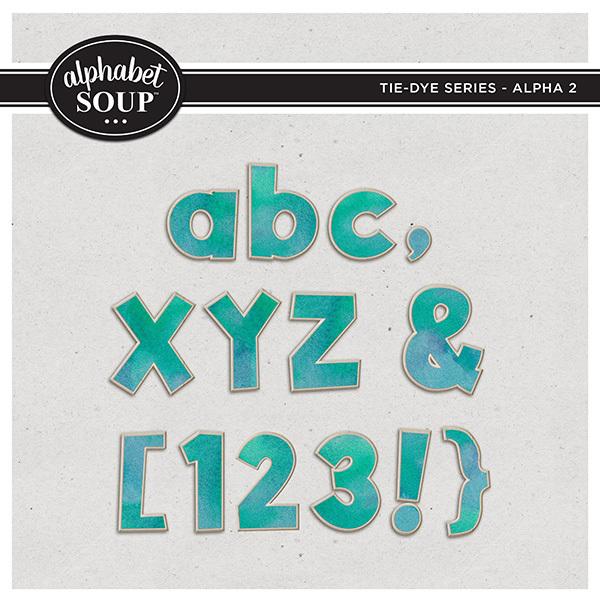 Tie-Dye Series - Alpha 2 Digital Art - Digital Scrapbooking Kits