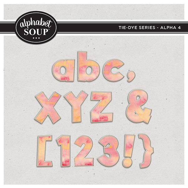 Tie-Dye Series - Alpha 4 Digital Art - Digital Scrapbooking Kits