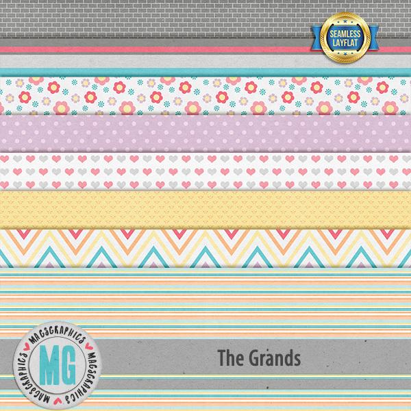 The Grands SLF Papers Digital Art - Digital Scrapbooking Kits