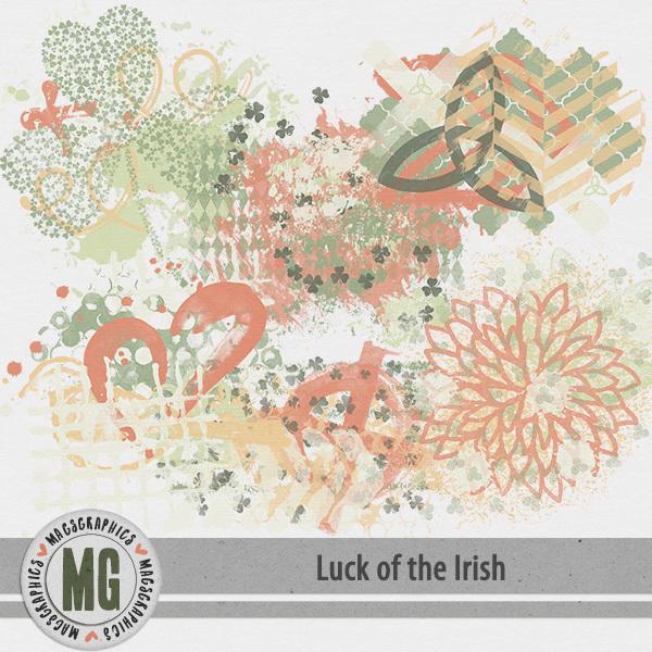Luck of the Irish Hodge Podge Digital Art - Digital Scrapbooking Kits