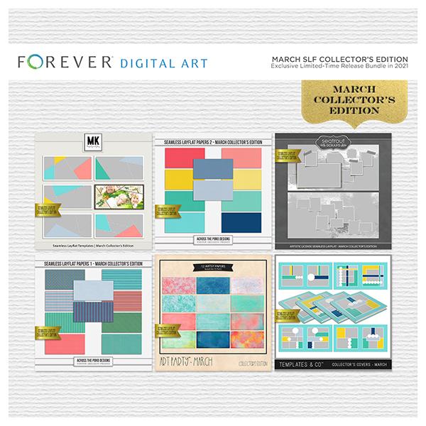 March SLF Collector's Edition Digital Art - Digital Scrapbooking Kits