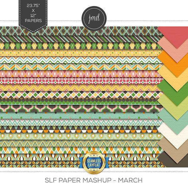 SLF Paper Mashup - March Digital Art - Digital Scrapbooking Kits