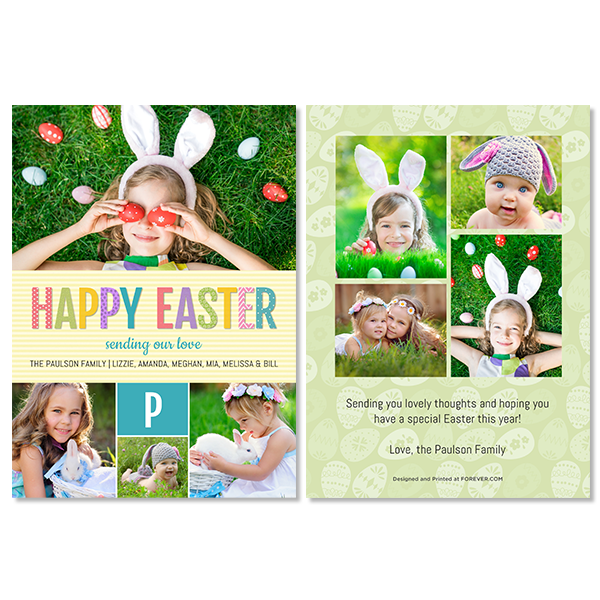Colorful Easter Card Card