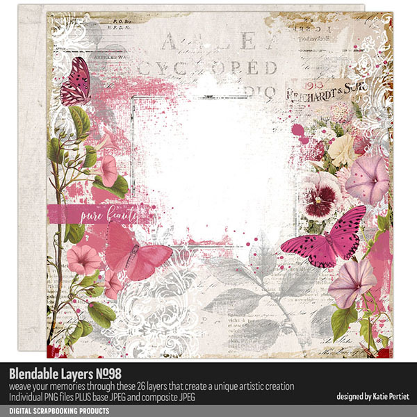 Blendable Layers 98 Digital Art - Digital Scrapbooking Kits