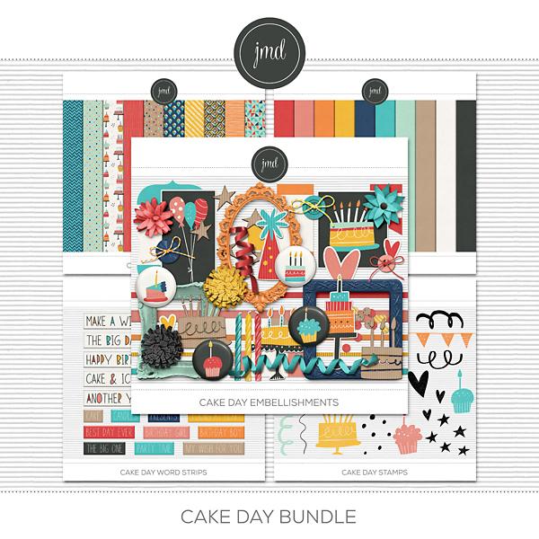 Cake Day Bundle Digital Art - Digital Scrapbooking Kits