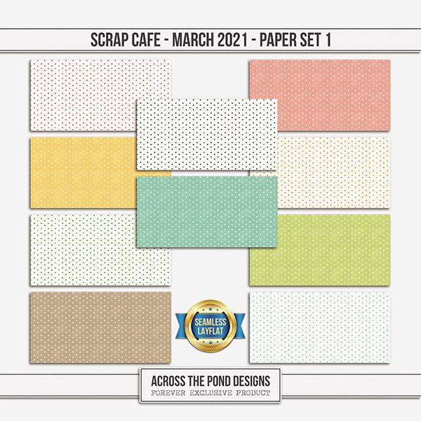 Scrap Cafe - March - Paper Set 1 Digital Art - Digital Scrapbooking Kits