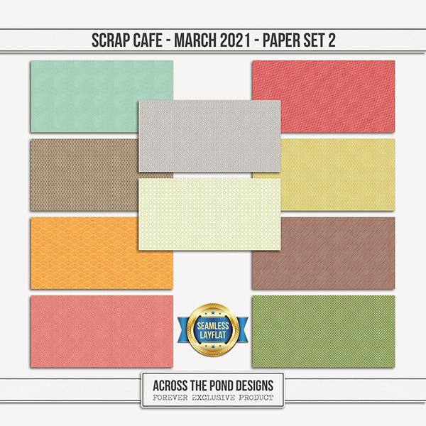 Scrap Cafe - March - Paper Set 2 Digital Art - Digital Scrapbooking Kits