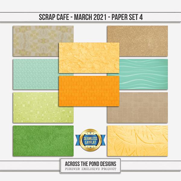 Scrap Cafe - March - Paper Set 4 Digital Art - Digital Scrapbooking Kits