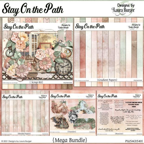 Stay On The Path Bundle Digital Art - Digital Scrapbooking Kits