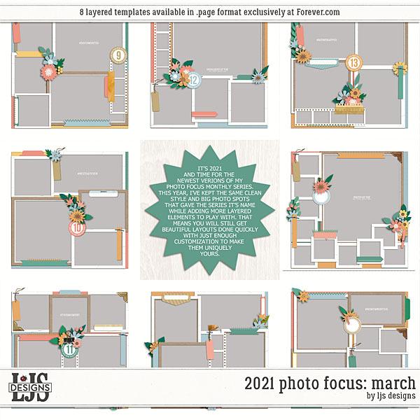 2021 Photo Focus - March Digital Art - Digital Scrapbooking Kits