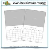 2022 11x8.5 Blank Calendar Template