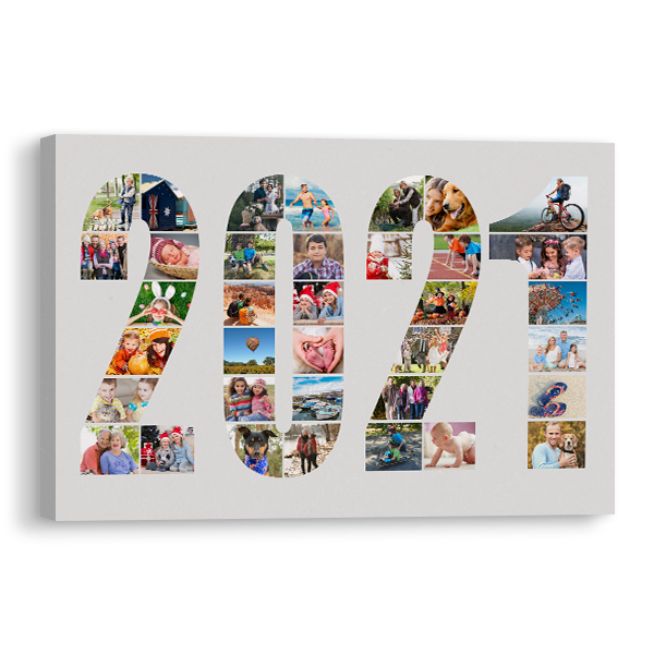 2021 Word Collage Canvas Canvas