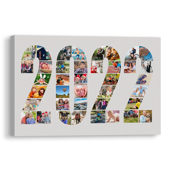2022 Word Collage Canvas Canvas