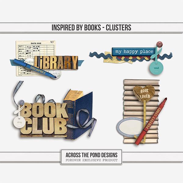 Inspired By Books - Clusters Digital Art - Digital Scrapbooking Kits
