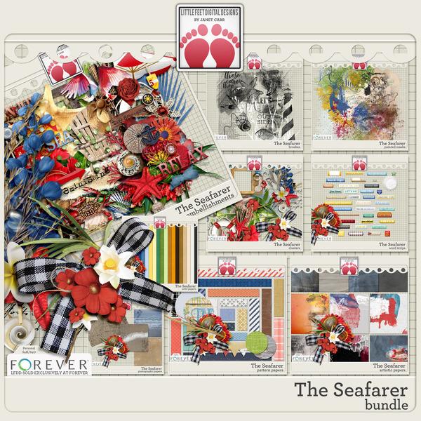 The Seafarer Bundle Digital Art - Digital Scrapbooking Kits