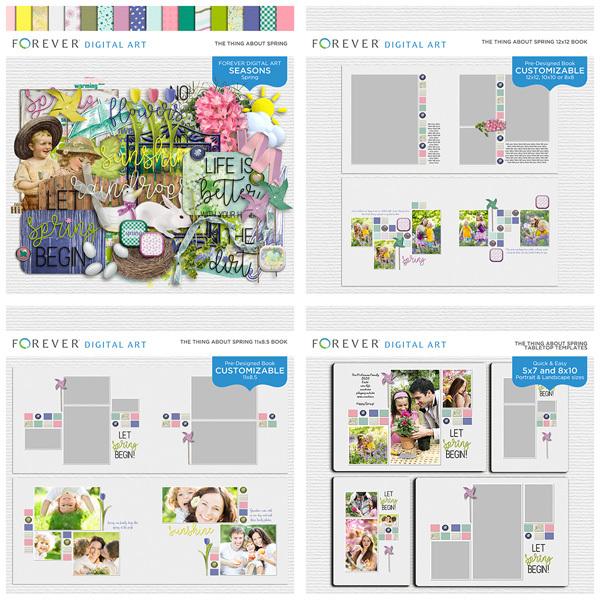 The Thing About Spring Bundle Digital Art - Digital Scrapbooking Kits