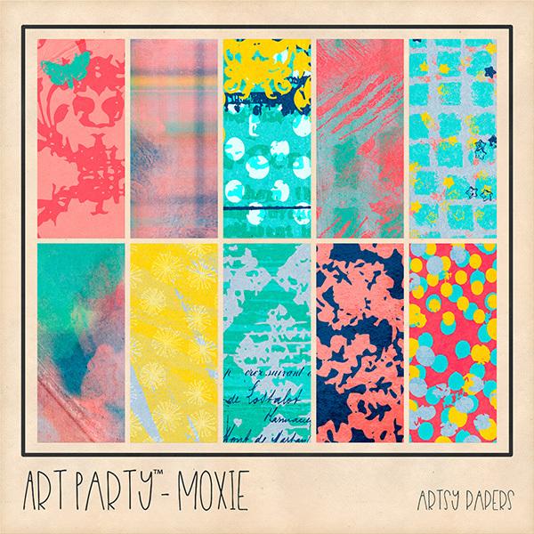 Moxie Artsy Papers Digital Art - Digital Scrapbooking Kits