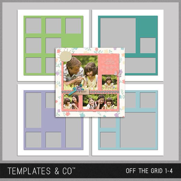Off the Grid 1-4 Digital Art - Digital Scrapbooking Kits
