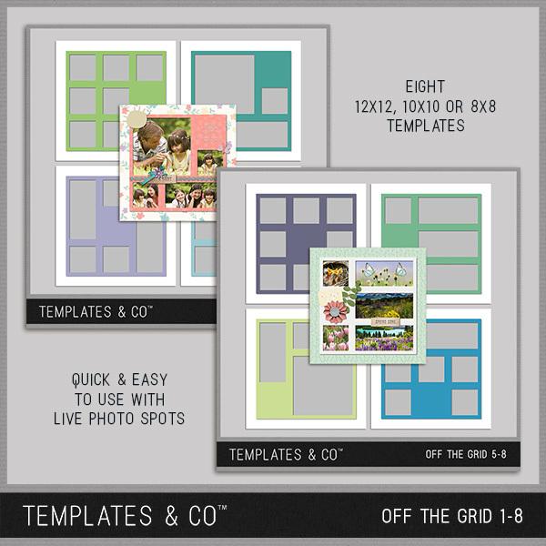 Off the Grid 1-8 Digital Art - Digital Scrapbooking Kits