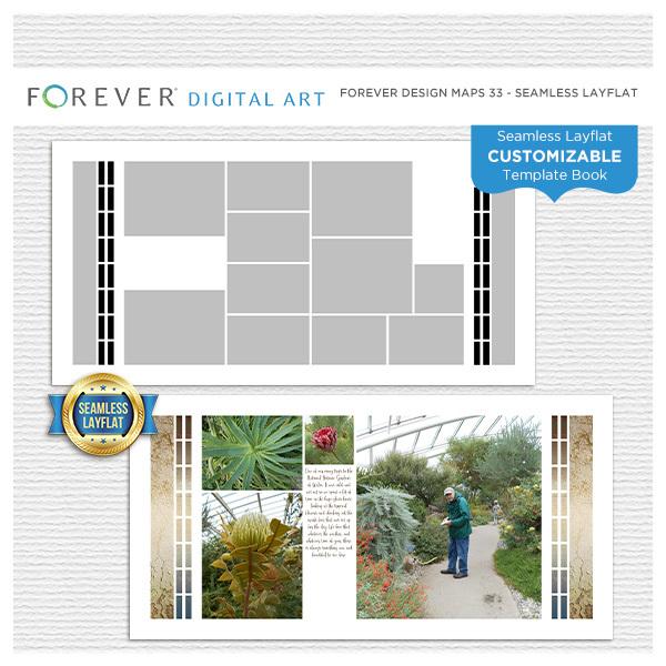 Forever Design Maps 33 - Seamless Layflat Digital Art - Digital Scrapbooking Kits