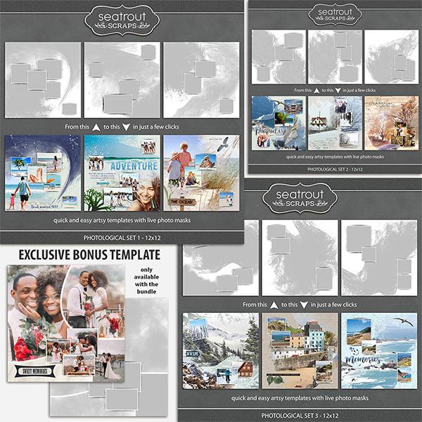 Photological Bonus Bundle 1 - 12x12 Digital Art - Digital Scrapbooking Kits