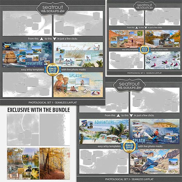 Photological Bonus Bundle 1 - Seamless Layflat Digital Art - Digital Scrapbooking Kits