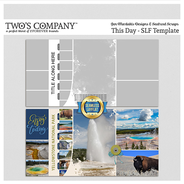 This Day - SLF Template Digital Art - Digital Scrapbooking Kits