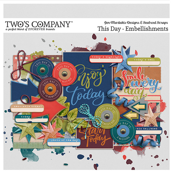This Day - Embellishments Digital Art - Digital Scrapbooking Kits