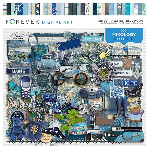 Perfect Palettes - Blue Moon Digital Art - Digital Scrapbooking Kits