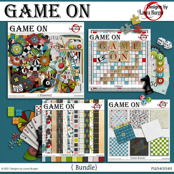 Game On Bundle Digital Art - Digital Scrapbooking Kits