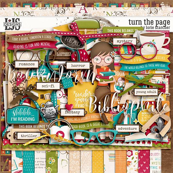 Turn The Page Digital Art - Digital Scrapbooking Kits