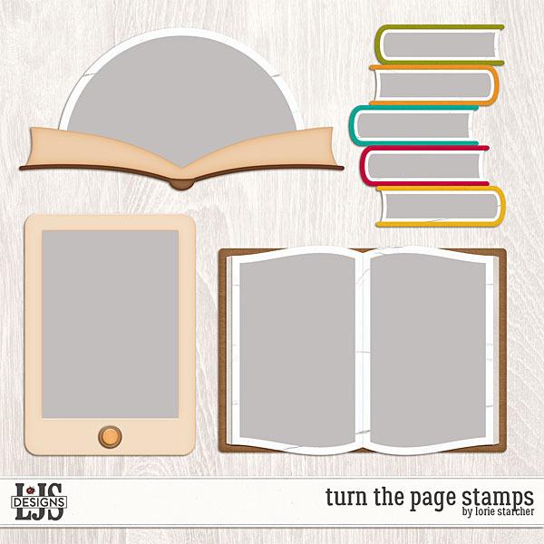 Turn The Page Frames Digital Art - Digital Scrapbooking Kits