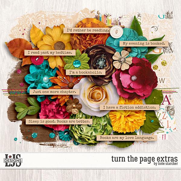 Turn The Page Extras Digital Art - Digital Scrapbooking Kits