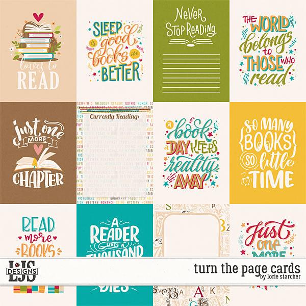 Turn The Page Cards Digital Art - Digital Scrapbooking Kits
