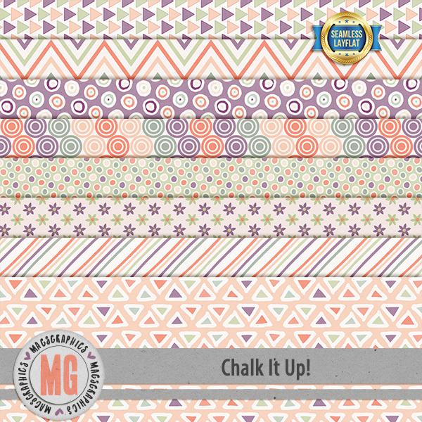 Chalk It Up SLF Papers Digital Art - Digital Scrapbooking Kits